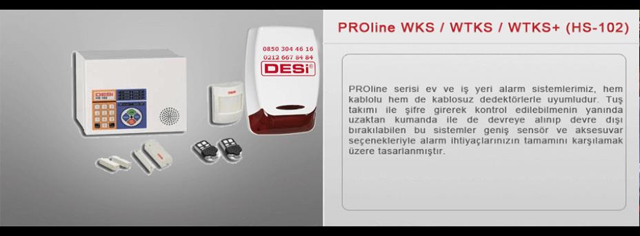 Desi Proline Wks Wtks Alarm Sistemi