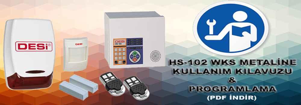 hs 102 metaline wks programlama ve kullanim kilavuzu - Kullanım Kılavuzu ve Programlama