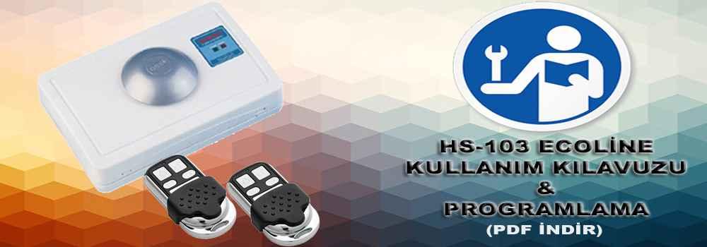 hs 103 ecoline programlama ve kullanim kilavuzu - Kullanım Kılavuzu ve Programlama