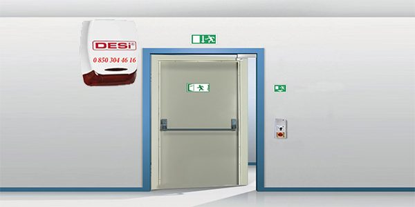 yangın kapisi alarm sistemi 600x300 - Acil Yangın Çıkış Kapısı Alarm Sistemleri