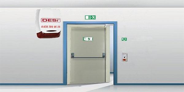 yangın kapisi alarm sistemi - Acil Yangın Çıkış Kapısı Alarm Sistemleri