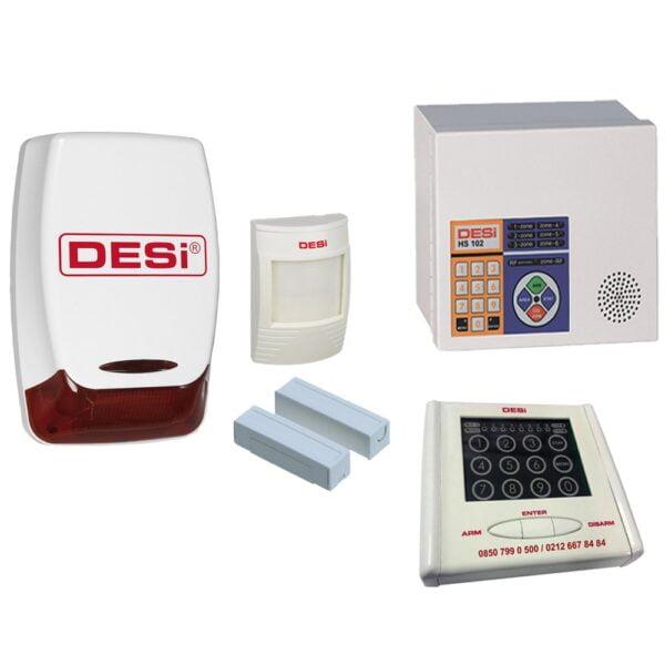 desi hs 102 metaline 600x600 - Desi Hs 102 WKS Metaline Dokunmatik Şifre Panelli (Keypad) Alarm - Hırsız Alarm
