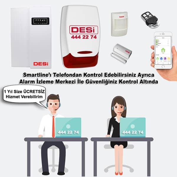 desi smartline alarm merkezine baglanma - Desi Smartline Alarm Sistemi