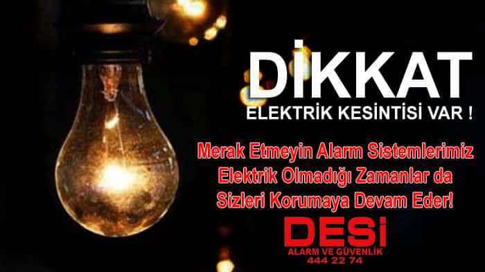 Elektrik kesintisinde Alarm Sistemleri